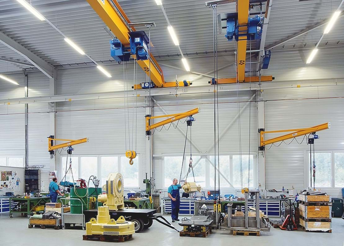 Series of wall jib cranes